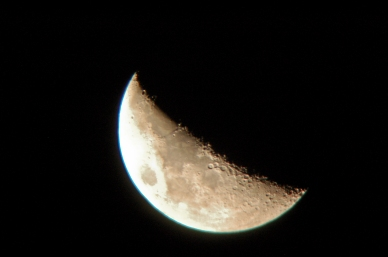May 3rd, 2006 The Moon: Waxing crescent with 35% of the Moon's visible disk illuminated