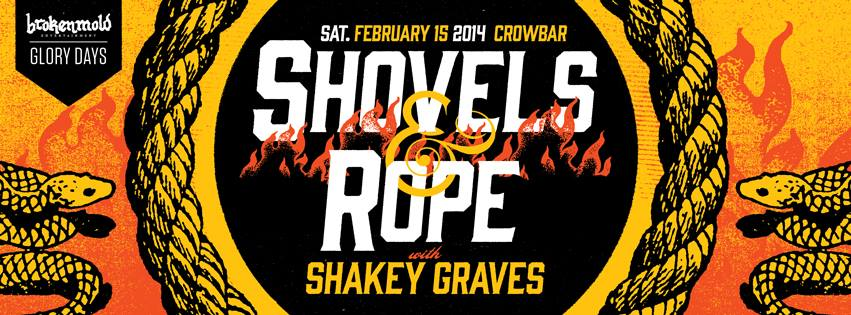 Shovels&Rope and Shakey Graves poster